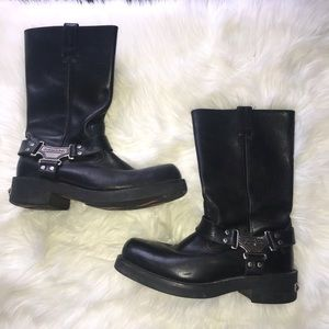 Harley Davidson black leather riding boots size 11